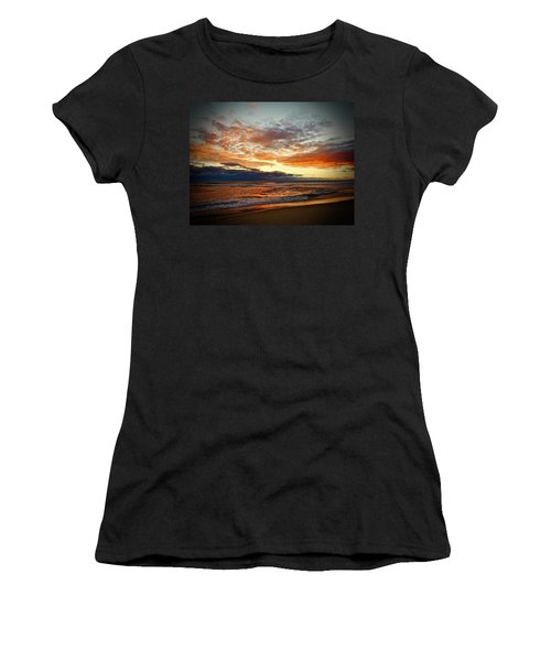 Women's T-Shirt (Athletic Fit) featuring the photograph Early Autumn Morning by Don Moore