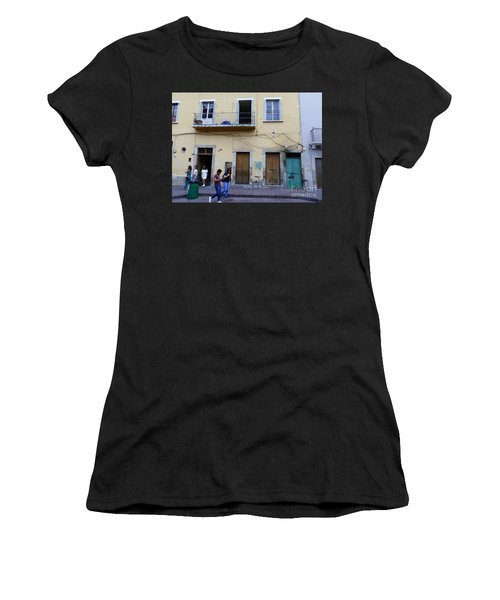 Women's T-Shirt featuring the photograph Guanajuato Street Scene by Rosanne Licciardi