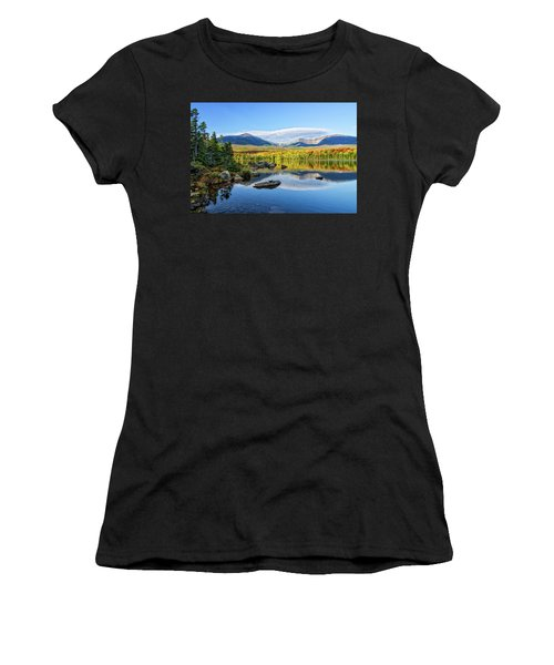 Women's T-Shirt featuring the photograph Sandy Stream Pond Baxter Sp Maine by Michael Hubley