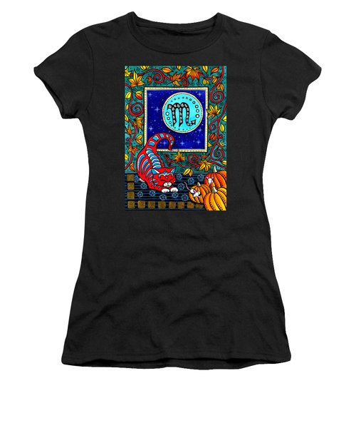 Scorpio Cat Zodiac Women's T-Shirt