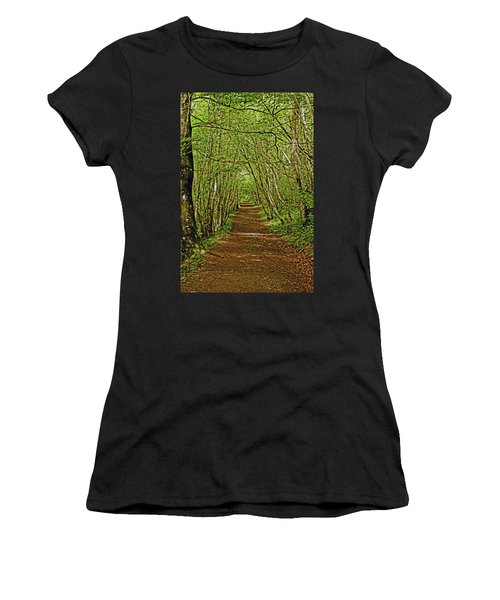Scotland. Killiecrankie. Path Through The Trees. Women's T-Shirt