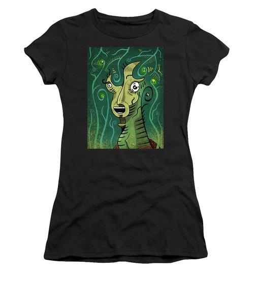 Women's T-Shirt featuring the digital art Scream by Sotuland Art