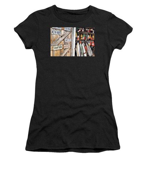 Sea Shack Plates And Buoys Women's T-Shirt