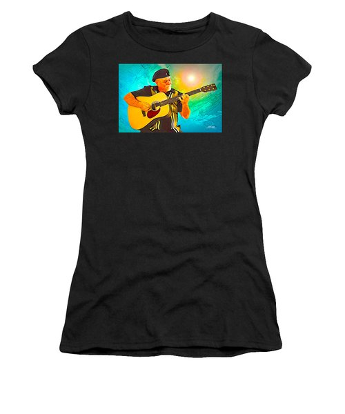 Women's T-Shirt (Athletic Fit) featuring the digital art Self Portrait by Mike Braun
