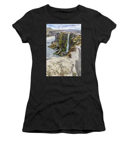Women's T-Shirt featuring the photograph Selfoss Waterfall - Iceland by Marla Craven