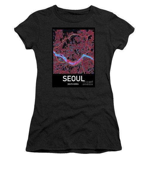 Seoul City Map Women's T-Shirt