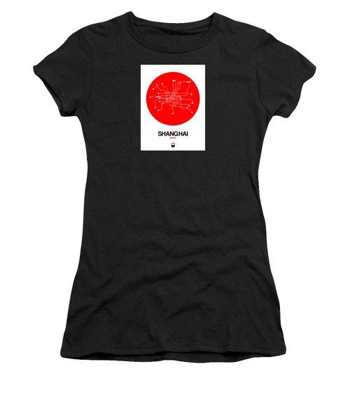 Shanghai Red Subway Map Women's T-Shirt
