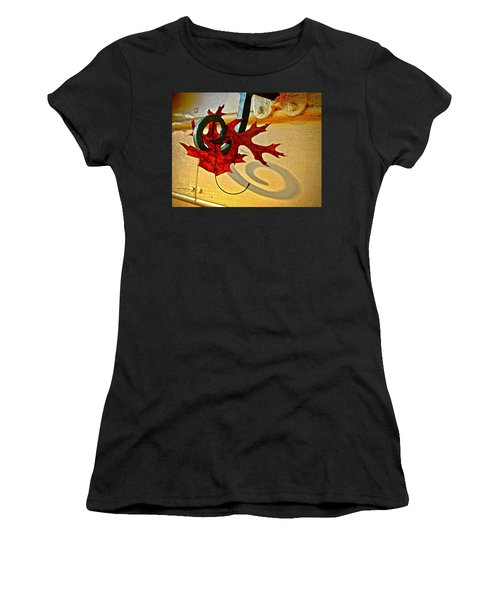 Women's T-Shirt (Athletic Fit) featuring the photograph  Shutter Dog Friends by Don Moore