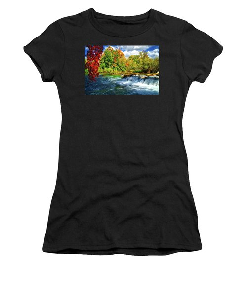 Women's T-Shirt (Athletic Fit) featuring the photograph Sidelined Beauty by Lynn Bauer