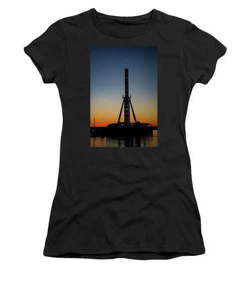 Silhouette Of A Ferris Wheel Women's T-Shirt