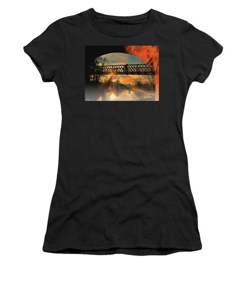 Women's T-Shirt featuring the photograph Silhouettes And Shadows by Leigh Kemp