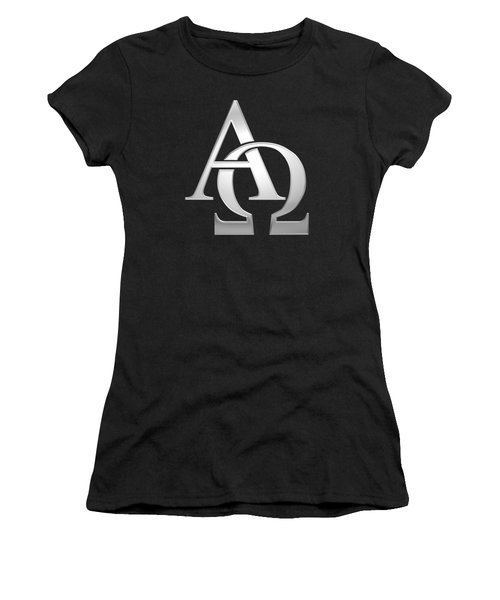 Silver Alpha And Omega Symbol Women's T-Shirt