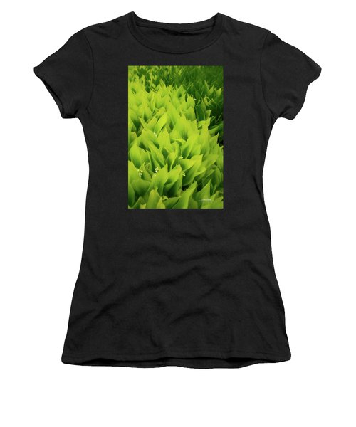 Women's T-Shirt (Athletic Fit) featuring the photograph Soft Green by Mike Braun
