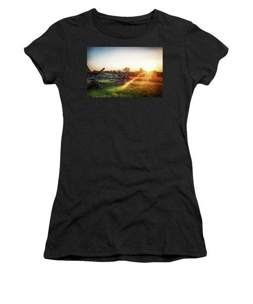 Split-rail Sunset Women's T-Shirt