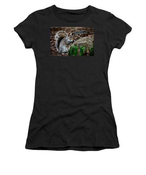 Squirrel And His Dinner Women's T-Shirt
