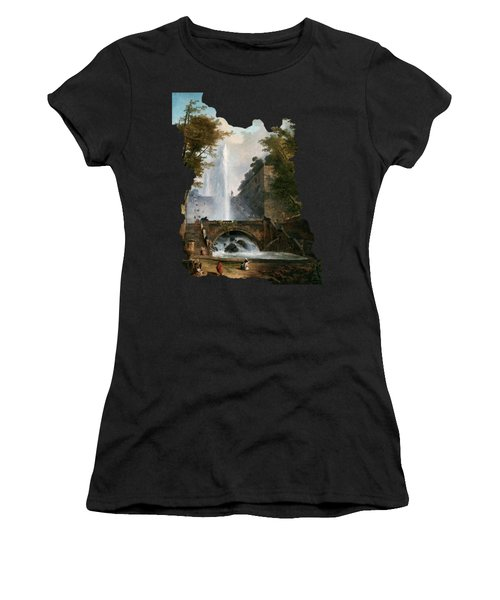 Stair And Fountain In The Park Of A Roman Villa Women's T-Shirt