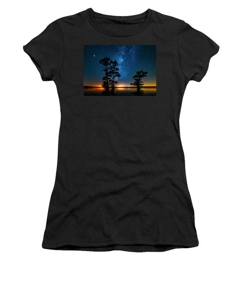 Women's T-Shirt (Athletic Fit) featuring the photograph Star Gazers by Andy Crawford
