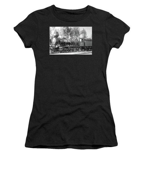 Steam Engine Locomotive 594 Finland Women's T-Shirt