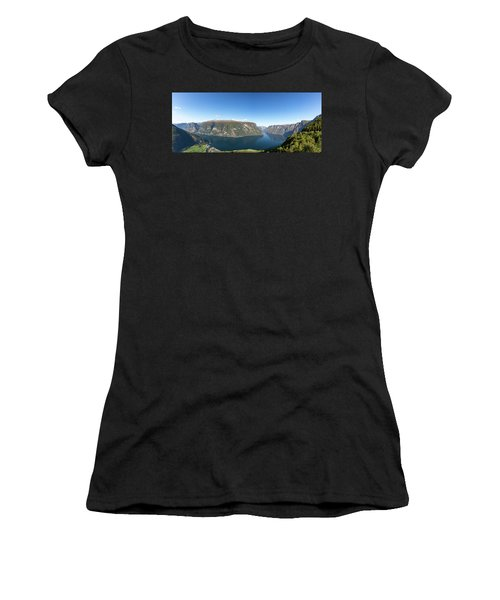 Women's T-Shirt featuring the photograph Stegastein, Norway by Andreas Levi