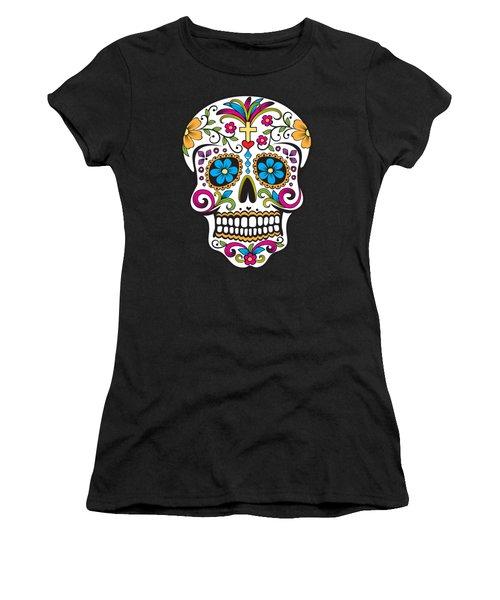 Sugar Skull Day Of The Dead Women's T-Shirt