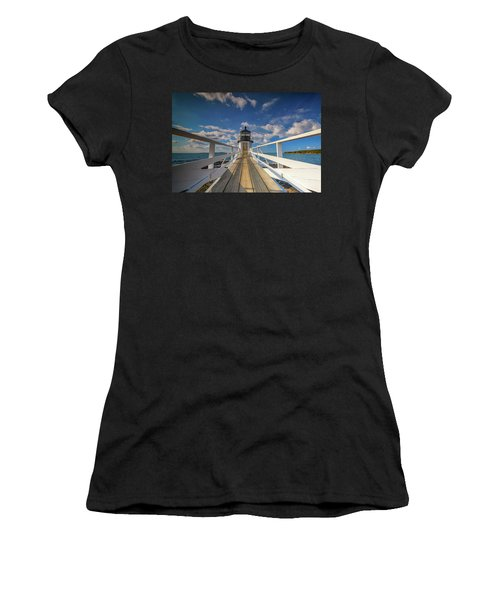 Women's T-Shirt (Athletic Fit) featuring the photograph Sunny Skies At Marshall Point by Rick Berk