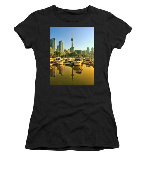 Sunrise At The Harbour Women's T-Shirt (Athletic Fit)
