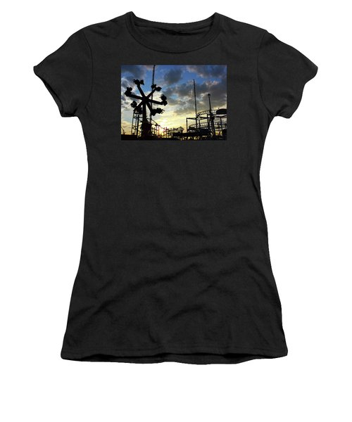 Sunset On Coney Island Women's T-Shirt (Athletic Fit)