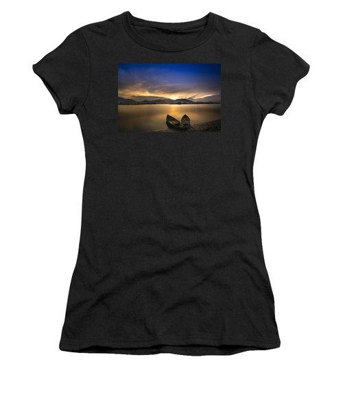 Sunset On The Lake Women's T-Shirt