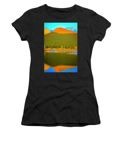 Symmetric Morning Landscape Women's T-Shirt