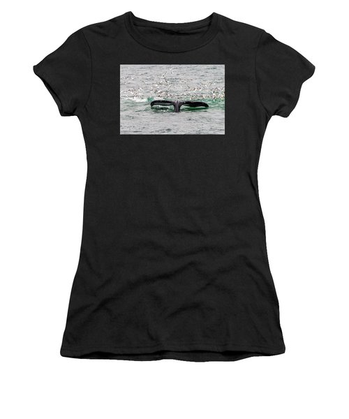Women's T-Shirt featuring the photograph Tail Of A Whale by Marla Craven