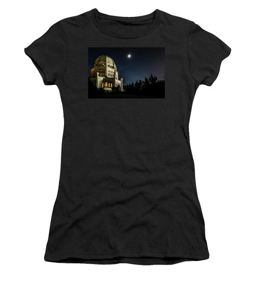 The Bahais Temple On A Starry Night Women's T-Shirt