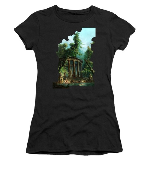 The Bathing Pool By Hubert Robert Women's T-Shirt