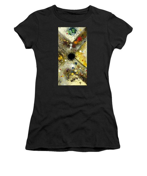 Women's T-Shirt featuring the painting The Escape Artist by 'REA' Gallery