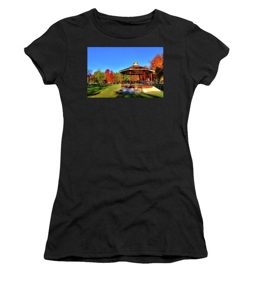 Women's T-Shirt featuring the photograph The Gazebo At Reaney Park by David Patterson