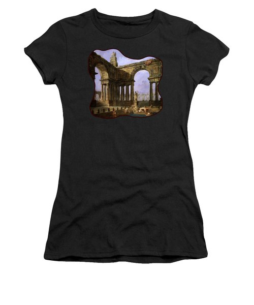 The Landing Place By Hubert Robert Women's T-Shirt
