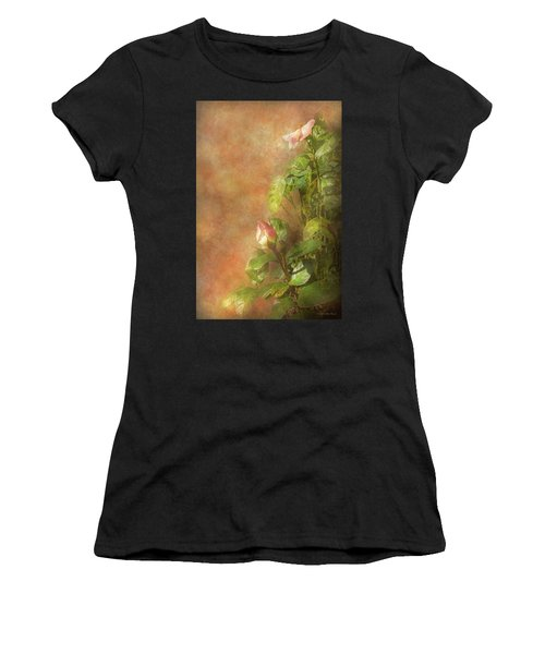 Women's T-Shirt (Athletic Fit) featuring the photograph The Lovely Rose by Mike Savad - Abbie Shores