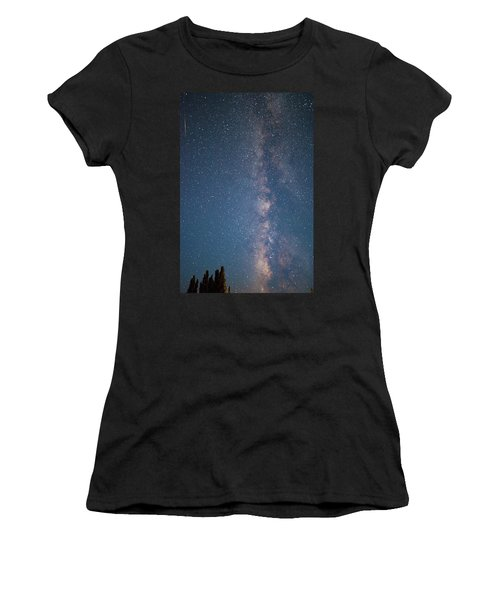 Women's T-Shirt (Athletic Fit) featuring the photograph The Milky Way In Arizona by Mark Duehmig