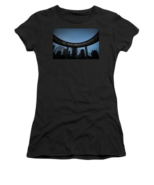 Women's T-Shirt featuring the photograph The Moon Circle by Juan Contreras