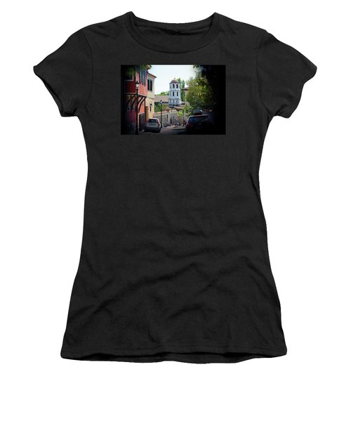 Women's T-Shirt featuring the photograph The Old Town by Milena Ilieva