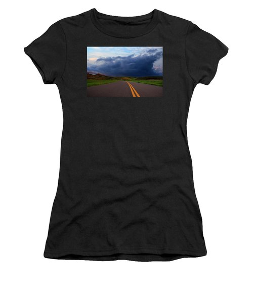 Women's T-Shirt (Athletic Fit) featuring the photograph The Road by John Rodrigues