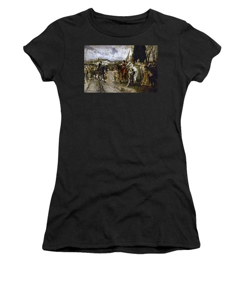 The Surrender Of Granada In 1492 - 19th Century - Oil On Canvas. Francisco Pradilla Y Ortiz . Women's T-Shirt