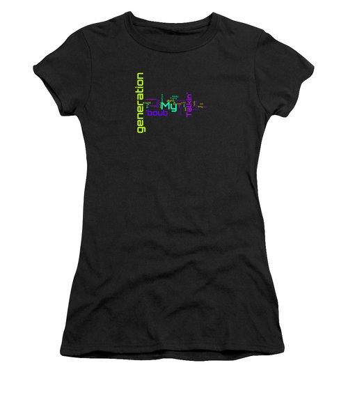 The Who - My Generation Lyrical Cloud Women's T-Shirt