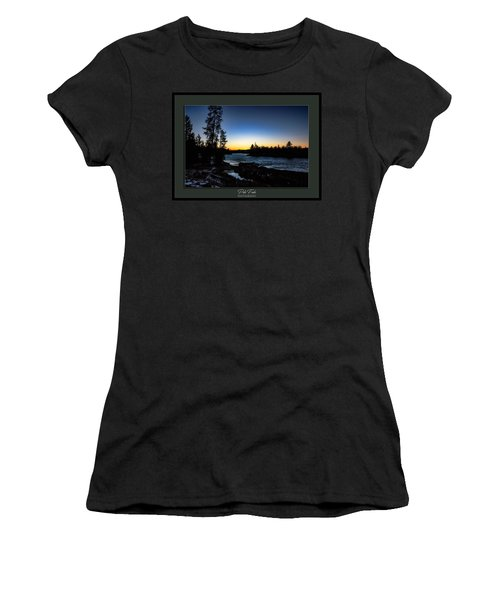 Women's T-Shirt (Athletic Fit) featuring the photograph The Yellowstone River by Pete Federico