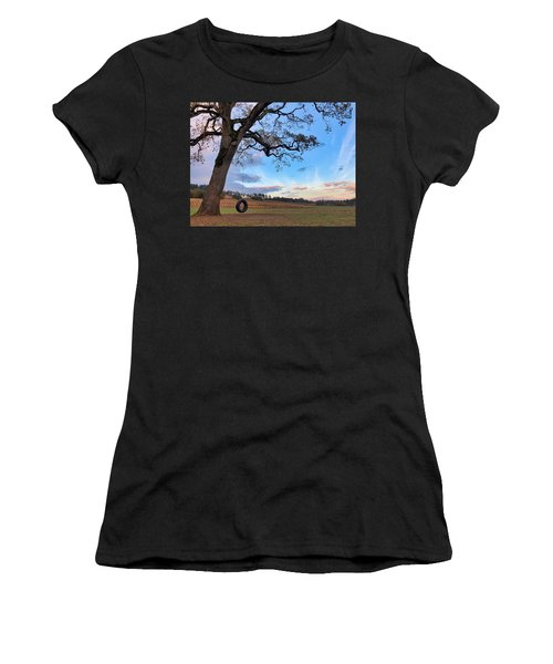 Tire Swing Tree Women's T-Shirt