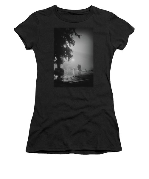 Women's T-Shirt featuring the photograph Together In Fog, Sa Pa, 2014 by Hitendra SINKAR