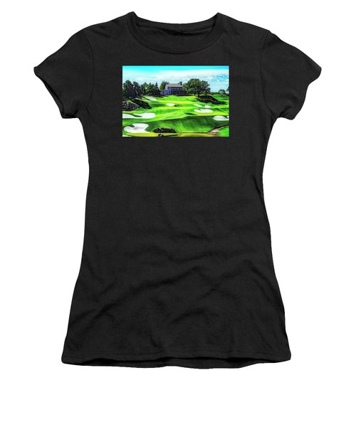 Women's T-Shirt (Athletic Fit) featuring the photograph Top Of The Rock Golf Course - Branson Missouri by Mike Braun