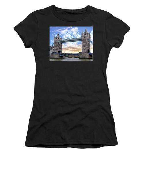 Women's T-Shirt (Athletic Fit) featuring the photograph Tower Bridge by Anthony Dezenzio