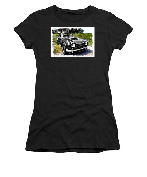 Triumph Tr5 Monochrome With Brushstrokes Women's T-Shirt