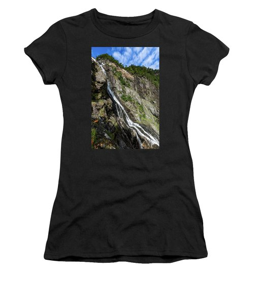 Women's T-Shirt featuring the photograph Tuftefossen, Norway by Andreas Levi
