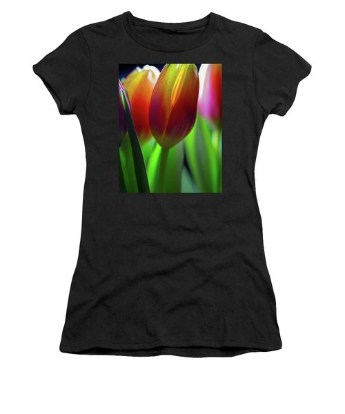 Women's T-Shirt (Athletic Fit) featuring the photograph Tulips by John Rodrigues